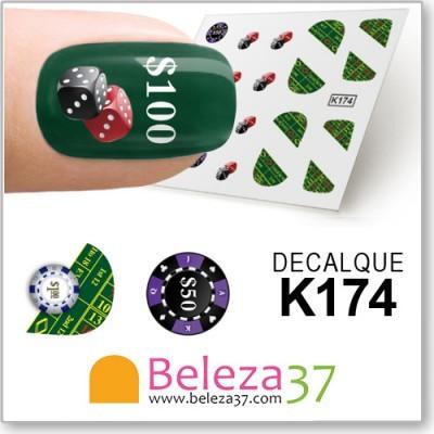 Decalques com Peças de Jogo (K174)