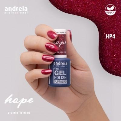The Gel Polish Andreia HP4 - Vermelho com glitter vermelho