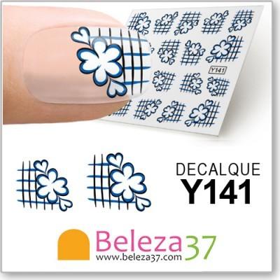 Decalques de Francesinha com Flores (Y141)