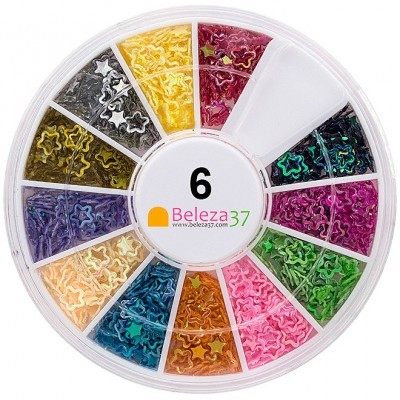 Roda 6 – Estrelas Holográficas em 12 cores