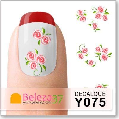 Decalques com Bouquet de Flores (Y075)