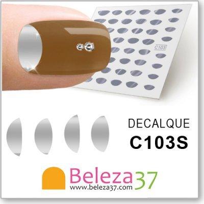 Decalques Francesinha Invertida em Prata (C103S)