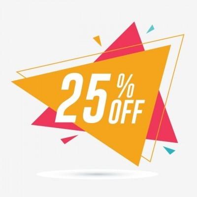 Super Promoção: 25% OFF