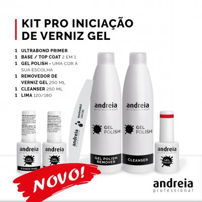 Novo Kit Pro Iniciação de Verniz Gel Andreia