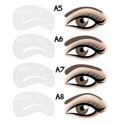 Moldes para Desenho de Sobrancelhas: A5–A8
