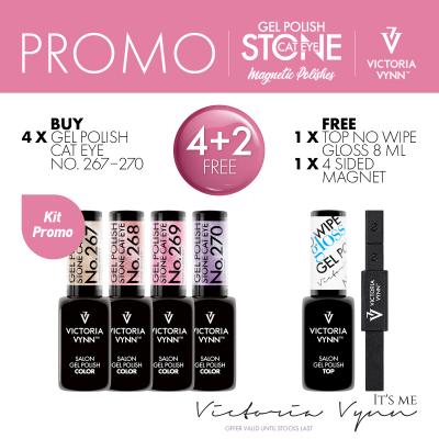 Coleção Verniz Gel Victoria Vynn STONE CAT EYE - Cores: 267+268+269+270 + OFERTA 1 iman 4 lados + 1 Top Gloss 8ml