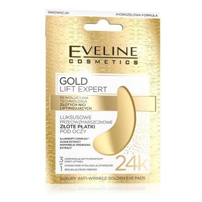 Máscara de Contorno de Olhos Eveline Luxury Expert 24K Gold