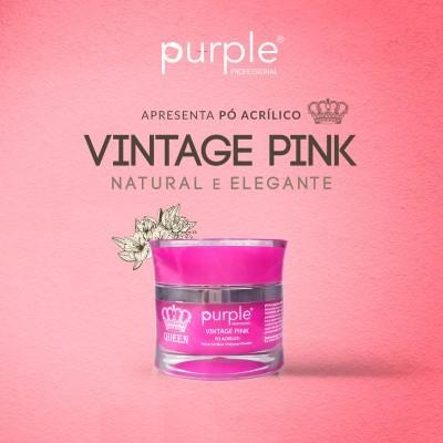 Pó Acrílico Purple Queen 30g - Vintage Pink