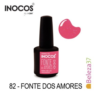 Verniz Gel Inocos 82 — Fonte dos Amores (Rosa Neon Glitter)