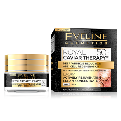 Máscara Eveline Anti-Rugas Royal Caviar Therapy Day 50+