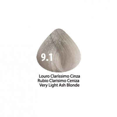 Tinta Violet Keratin Trendy 9.1 - 100ml - LOURO  CLARÍSSIMO CINZA