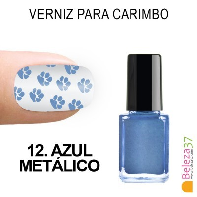 Verniz para Carimbo - 12. AZUL METÁLICO