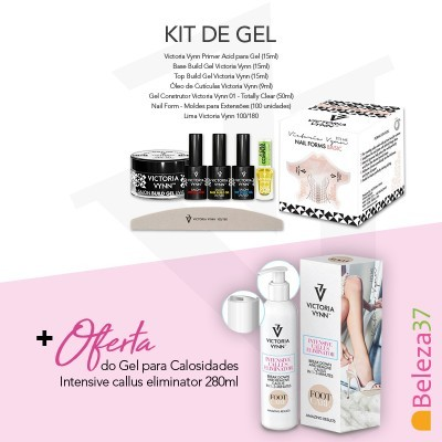 Kit de Gel Victoria Vynn + OFERTA do Gel para Calosidades 280ml