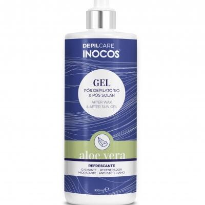 Gel Refrescante Pós Depilatório & Pós Solar Inocos - Aloe Vera 500ml
