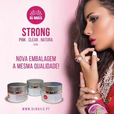 Gel Bifásico GL Nails Strong Pink 50ml
