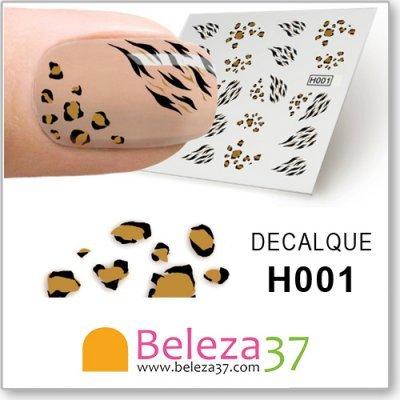 Decalques com Manchas de Leopardo (H001)