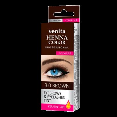 Tinta Henna Venita para Sobrancelhas em Gel - Castanho