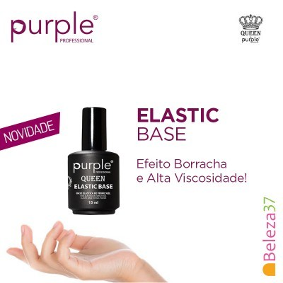 Elastic Base Transparente - Mega Base para Verniz Gel da PURPLE