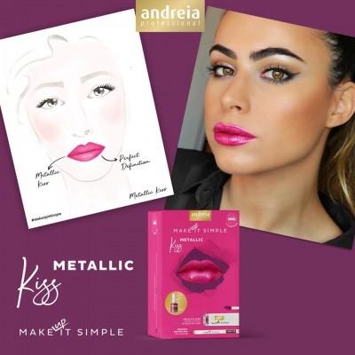 Coffret de Maquilhagem Andreia - METALLIC KISS