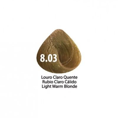 Tinta Violet Keratin Trendy 8.03 - 100ml - LOURO  CLARO QUENTE