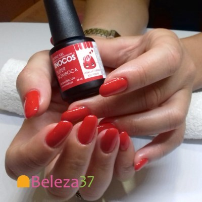 Verniz Gel Inocos 146 – Super Bomboca (Vermelho Ferrari)