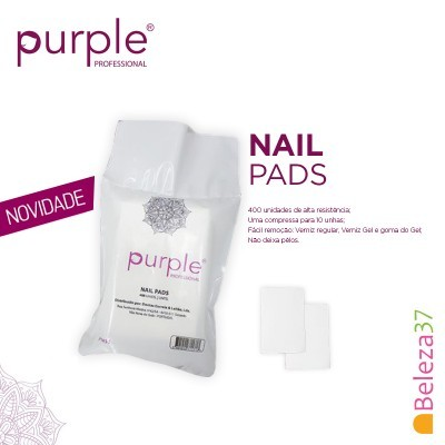 Nail Pads Purple - 400 unidades