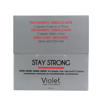 Ampolas Violet Stay Strong - 12 unidades x 10ml