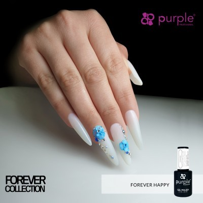 Verniz Gel PURPLE P2036 – Forever Happy (Branco Leitoso)