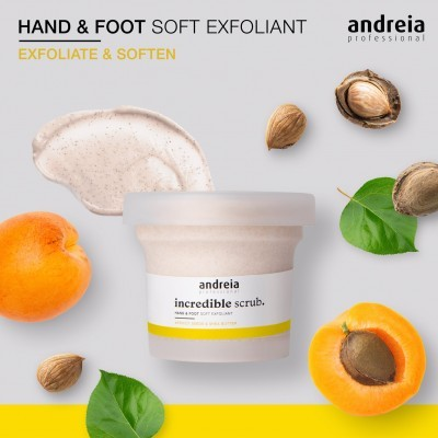 Incredible Scrub Andreia - Esfoliante para mãos e pés 200ml