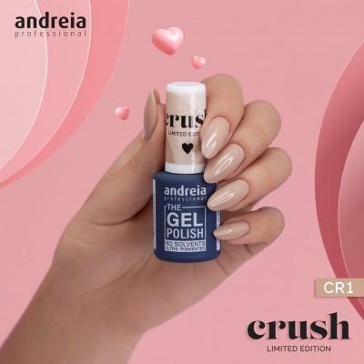 The Gel Polish Andreia CR1: Brilho nos Olhos - Nude com ligeiro brilho