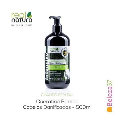 Champô Sem Sal Real Natura – Pro-Danificados Queratina 500ml