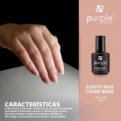 Elastic Base Cover Beige - Mega Base para Verniz Gel da PURPLE