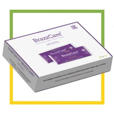 Kit com 10 pares de Luvas + 10 pares de Sapatilhas BrazzCare / BalbCare