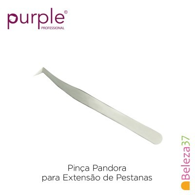 Pinça Pandora PURPLE para Extensão de Pestanas