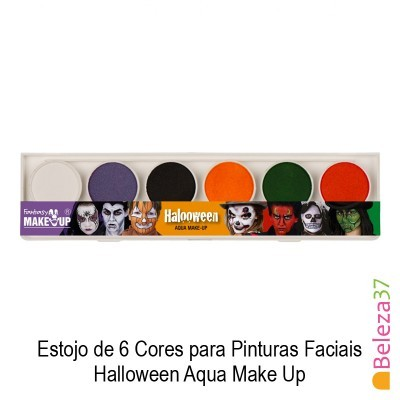 Estojo de 6 Cores para Pinturas Faciais - 01 - Halloween Aqua Make Up