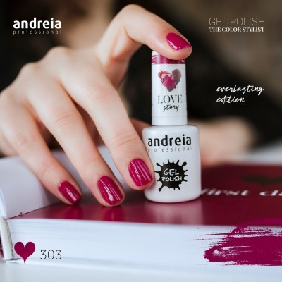 Verniz Gel Andreia 303 - First Date - Vermelho Cereja