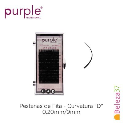 "Pestanas de Fita PURPLE - Curvatura ""D"" - 0,20mm/9mm"