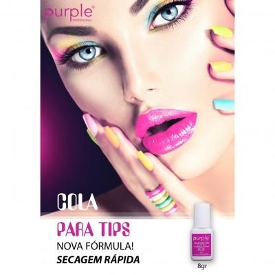 Cola Purple para Tips com Pincel 8g