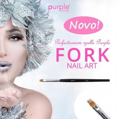 Pincel Nylon Nail Art FORK