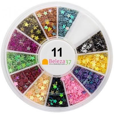 Roda 11 – Estrelas Iridescentes em 12 cores