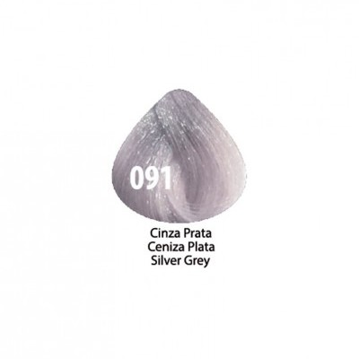 Tinta Violet Keratin Trendy 091 - 100ml - CINZA PRATA