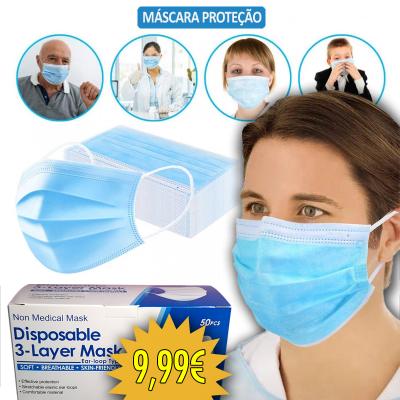 Caixa de 50 Máscaras Cirúrgicas