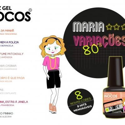 Verniz Gel Inocos — Coleção de 8 cores Maria Variações 80s