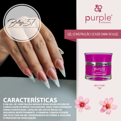 Gel Construtor Purple Gel Cover Dark Rouge 15g