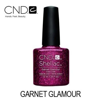 CND Shellac – Garnet Glamour (Vermelho Carmesim com Glitter)