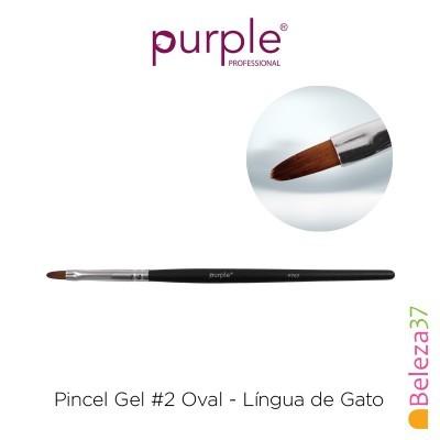 Pincel Gel #2 Oval Purple - Língua de Gato