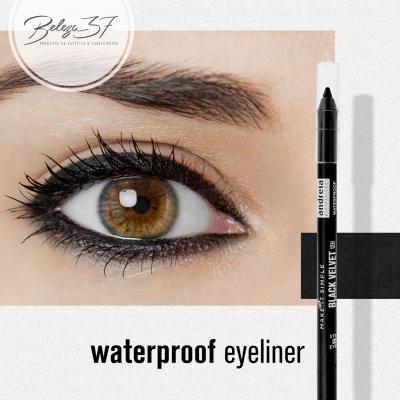 Andreia Eyes 3 - BLACK VELVET 12H - Waterproof Eyeliner