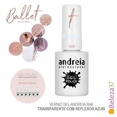 Verniz Gel Andreia Ba6 – Transparente com reflexos azuis