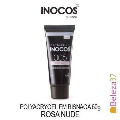 Polyacrygel Inocos em Bisnaga - Rosa Nude 60g