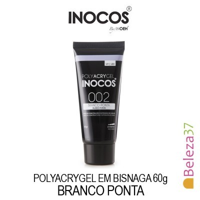 Polyacrygel Inocos em Bisnaga - Branco Ponta 60g